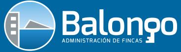 Logotipo corporativo de la oficna de administración de fincas Balongo